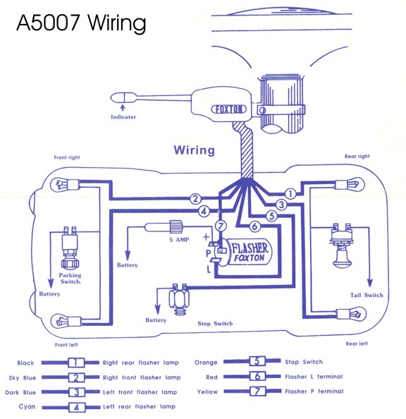 5007 Wiring light switches, turn signal switches and door switches blinker wiring diagram at crackthecode.co