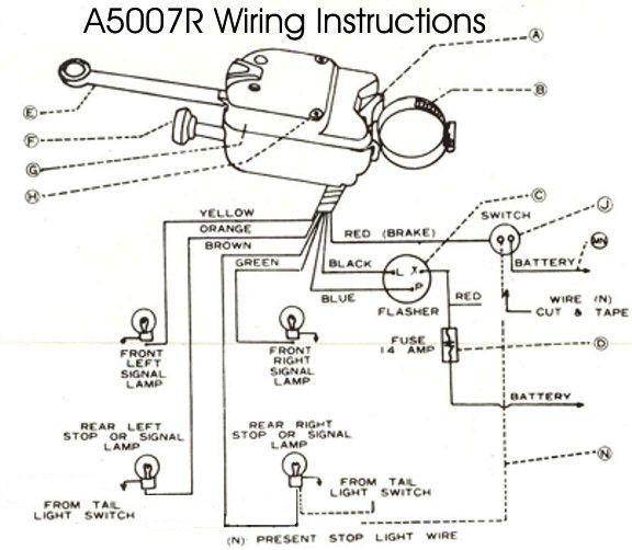 A5007R Wiring light switches, turn signal switches and door switches car flasher wiring diagram at gsmx.co